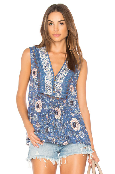Spell & The Gypsy Collective blouse sleeveless blue top