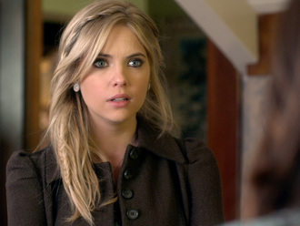 coat pretty little liars hanna marin brown coat brown brown jacket pea coat winter winter coat pretty jacket cry