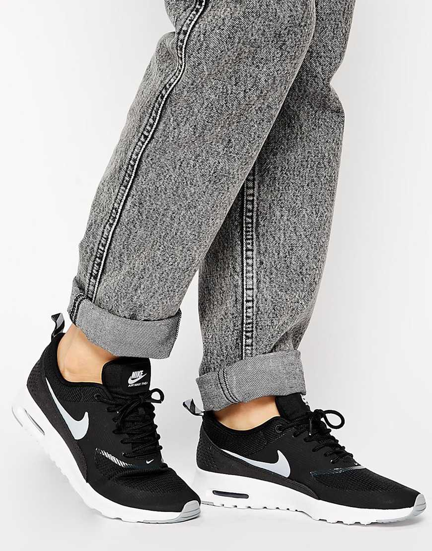 Nike Black Air Max Thea Trainers at asos.com