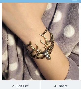 jewels bracelets deer skull deer jewelry