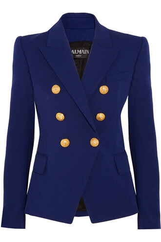 blazer cotton blue jacket