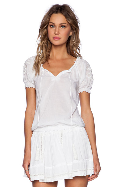 Pia Pauro top embroidered white