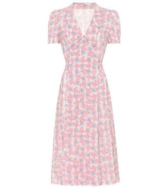 dress wrap dress floral silk