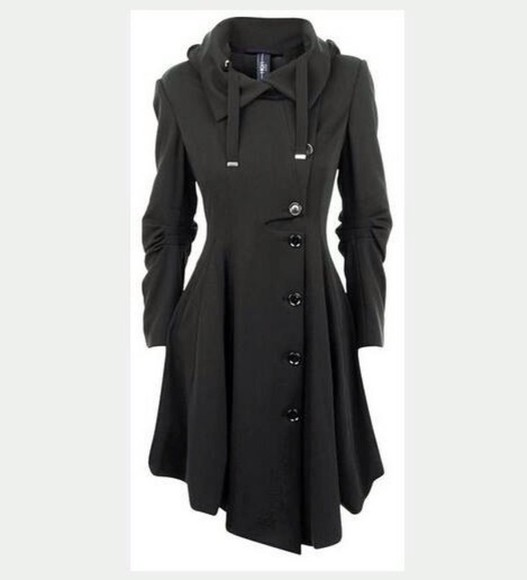 coat black coat awesome