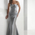 Buy Attractive Silver Trumpet/Mermaid Sweep Train Beadings Satin Evening Dress under 200-SinoAnt.com