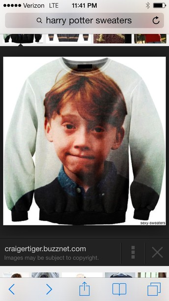 Sweater Sexy Sweater Ron Weasley Harry Potter Jumper Pullover