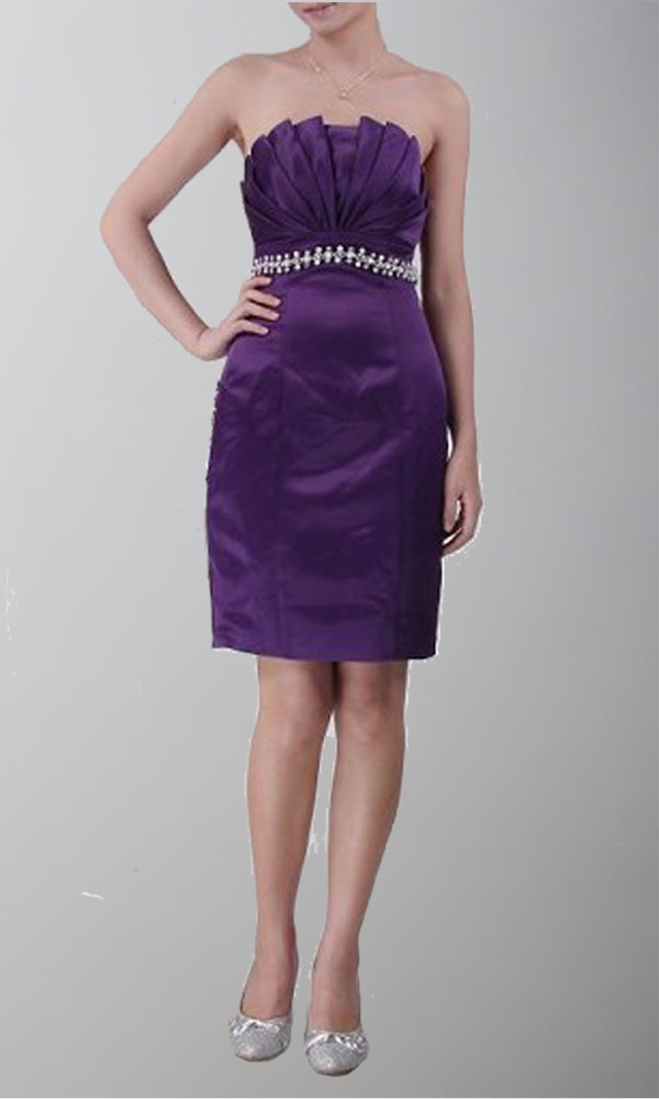 purple dress cocktail dress plum bridesmaid wedding clothes