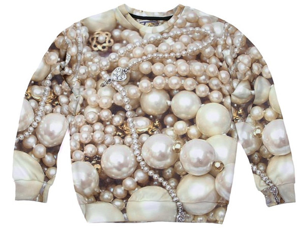 Pearls Printed Sexy Sweater – Glamzelle