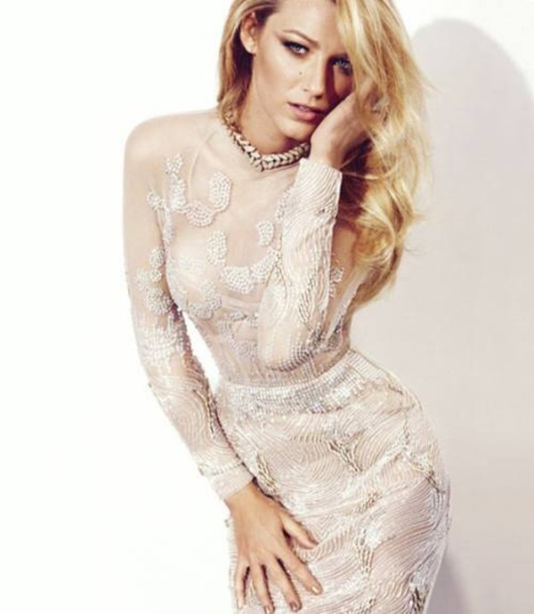 dress blake lively lace marios schwab PLL Ice Ball texture sea creatures