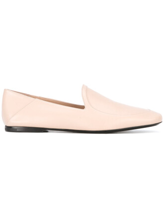 women loafers leather nude shoes