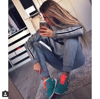 jeans sweater nike sweater pants grey sweater grey jeans shoes nike shoes