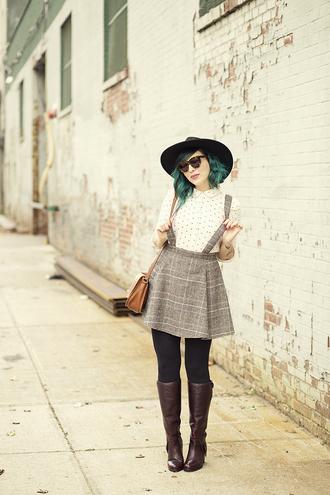 keiko lynn blogger bag sunglasses shirt skirt shoes hat