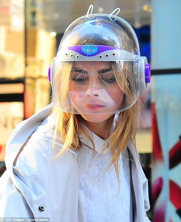 hat cara delevingne helmet galaxy print vintage 90s style victoria's secret model neon white shirt jacket sweater