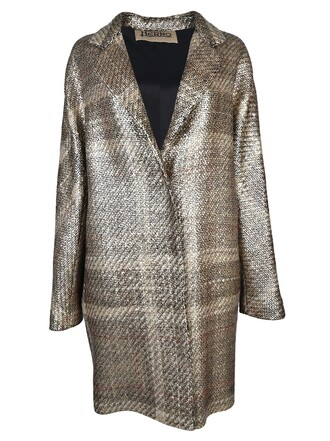 coat checkered silver