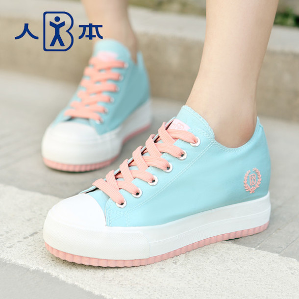 Shoes: kawaii, cute, pastel, plateau shoes, sneakers, pink ...