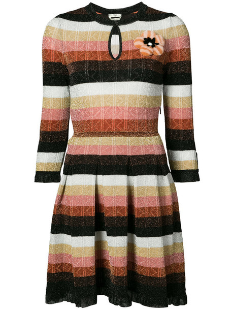 Fendi dress knitted dress women black wool