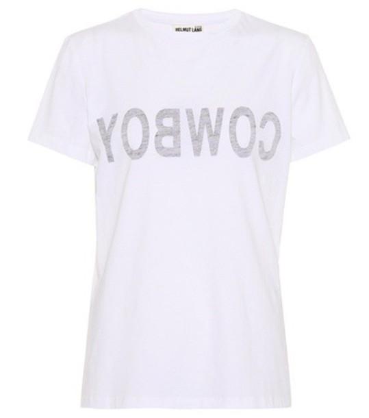 Helmut Lang t-shirt shirt cotton t-shirt t-shirt cotton white top