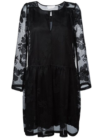 dress lace dress lace floral black