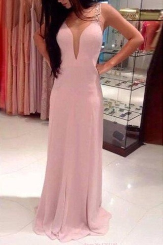 dress pink silk long prom red white pretty