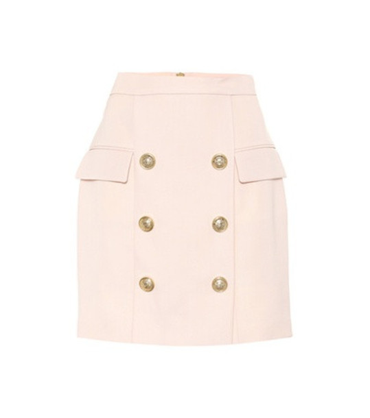 Balmain Wool skirt in pink