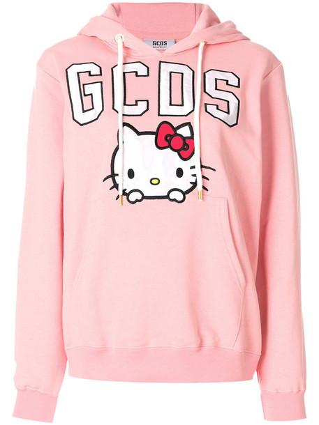 GCDS hoodie women cotton purple pink sweater