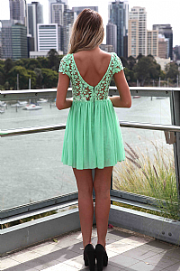 Splended angel dress , dresses, tops, bottoms, jackets & jumpers, accessories, 50% off , pre order, new arrivals, playsuit, colour, gift voucher,,green,print,lace,short sleeve,mini australia, queensland, brisbane