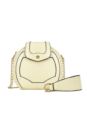 Pure Color Round Chain Crossbody Bag [FPB408]- US$22.99 - PersunMall.com