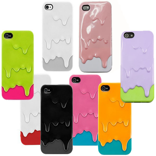 For iPhone 5 5G New Attractive 3D Style Ice Cream Melting Skin Hard Mobile Phone Bags & Cases Freeshipping-in Phone Bags & Cases from Electronics on Aliexpress.com
