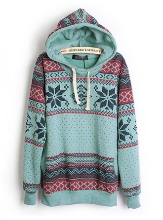 sweater hoodie geometric blue hoodie tribal pattern christmas sweater