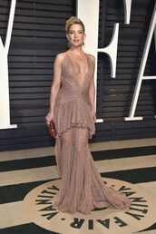 dress,kate hudson,nude,nude dress,gown,bridal gown,long dress,maxi dress,oscars,Oscars 2017,lace dress