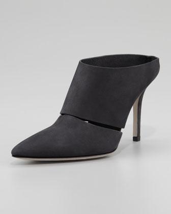 Alexander Wang Dina Nubuck Slip-On, Black - Neiman Marcus