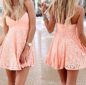 summer dress,lace dress,floral dress,dress,coral mini,coral,summer,spring,fashion,style,beach,strappy,lace,rose wholesale-feb