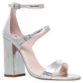 shoes,metallic,metallic shoes,block heels,block heel sandals
