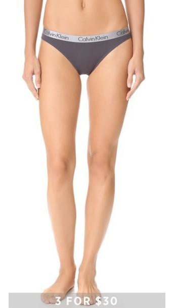 Calvin Klein Underwear Radiant Cotton Thong - Ashford Grey