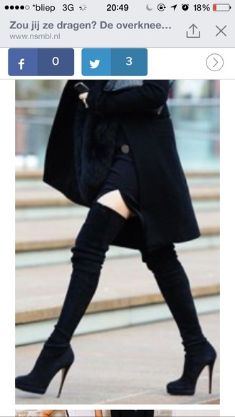 over the knee boots tight fit fasion fall outfits high heels