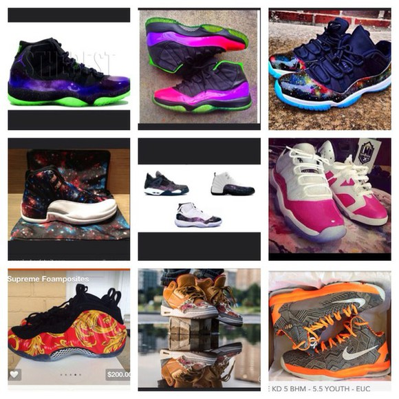 shoes galaxy jordan colors print