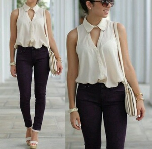 blouse shirt white