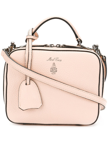 Mark Cross women baby handbag leather purple pink bag