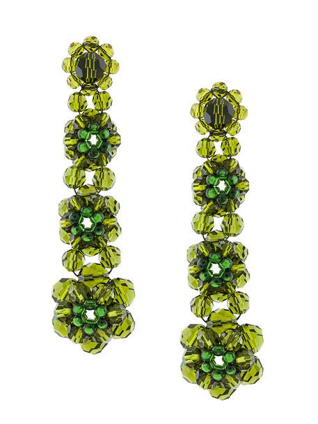 Simone Rocha women earrings green jewels