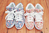 shoes,sneakers,flowers,high top sneakers,girl,floral,dark,light,pink,blue,summer,pattern,liberty,baskets,vans,floral print shoes