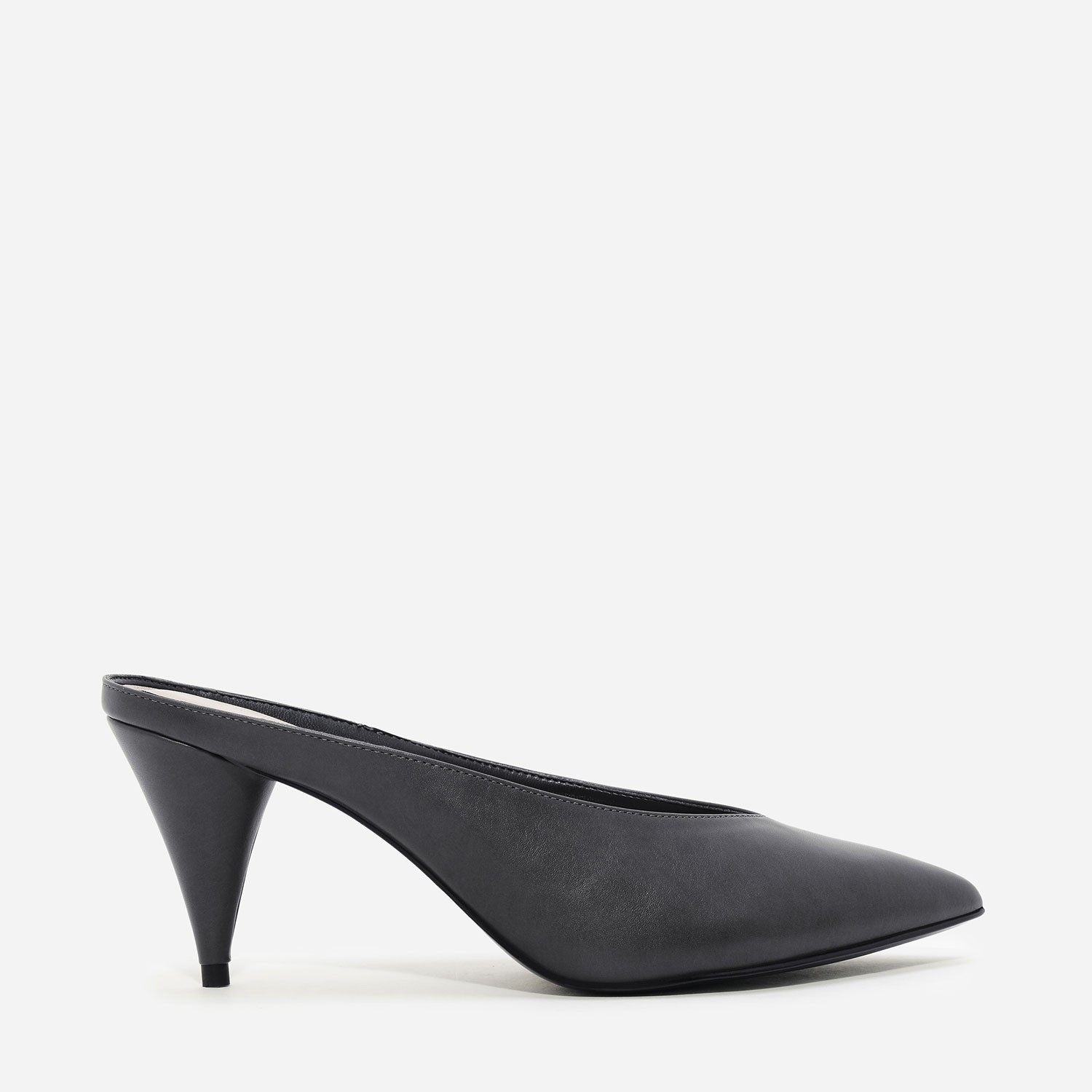 Grey Pointed Mules   CHARLES & KEITH