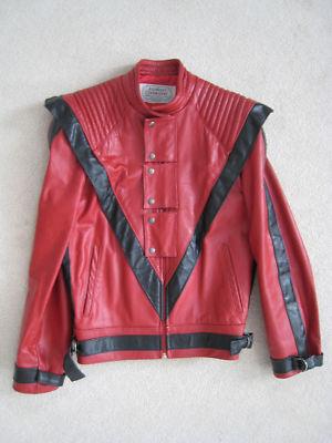 Ebay.ca : michael jackson thriller: vintage red leather jacket objet 320635884887 fin)