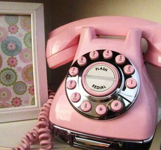 modern house phone technology retro home accessory home decor pink girly earphones