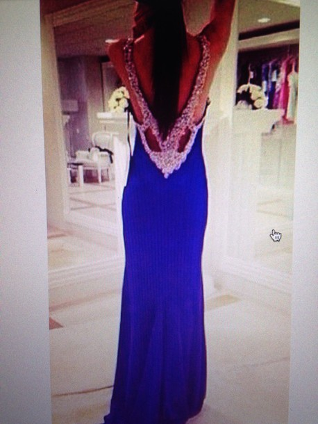 dress long blue
