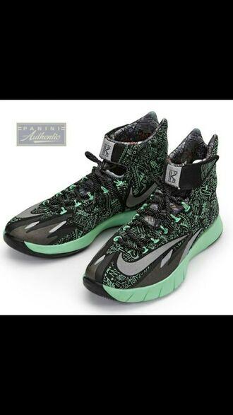 shoes nike air nike nike hyperrev kyrie irving black all star black/jade green