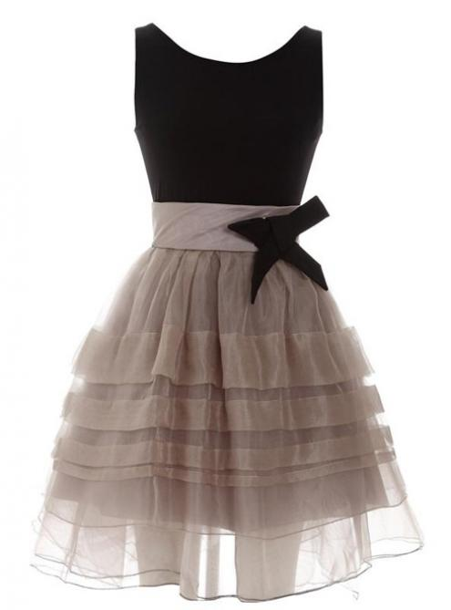 2014 fashion hot sale elegant pompon  dress with bow$82