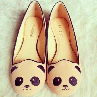 shoes panda ballet flats