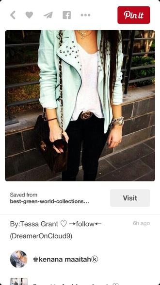 jacket leather jacket blazer cropped