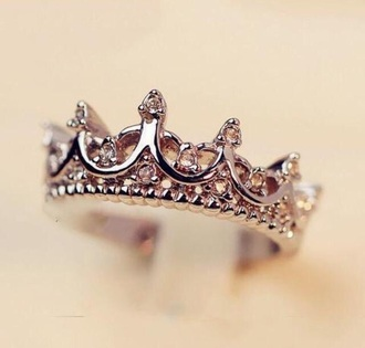jewels ring queen crown ring jewelry style diamonds