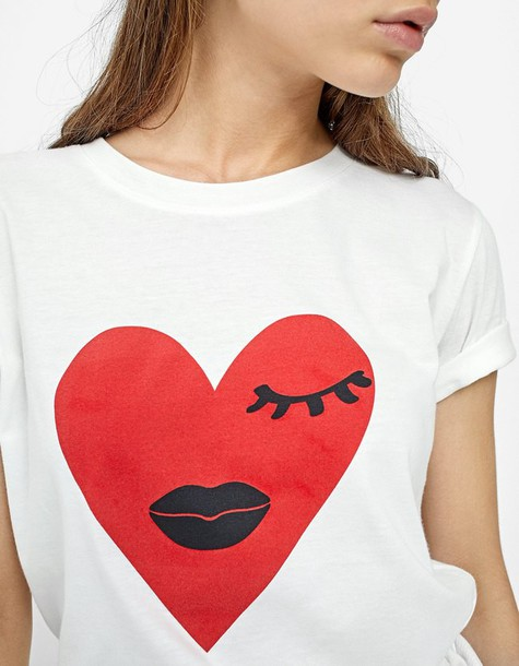 t-shirt shirt t-shirt heart top